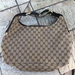 Gucci Monogram Horsebit Hobo Bag 115867